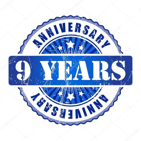 how is 9 in years 9 years anniversary st stock vector 169 galastudio 63939365