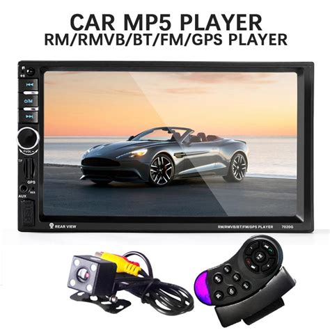 Mp5 Player Audio Car Bluetooth With Gps Canggih 7020g 2 din car mp5 player with rear view gps navigation radio support usb