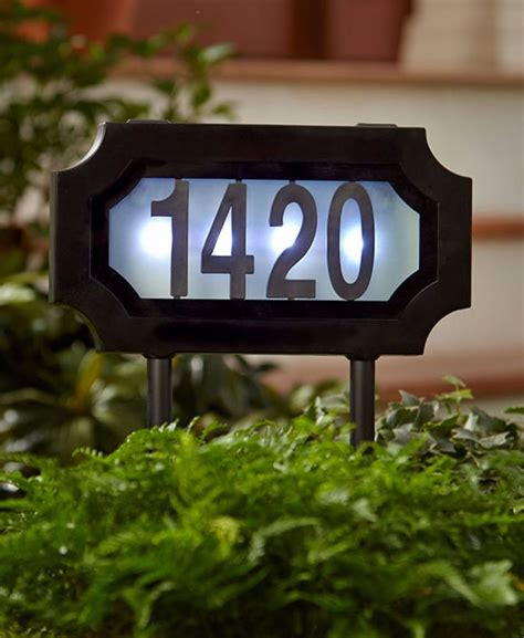 lighted address sign solar 17 best ideas about address signs on address