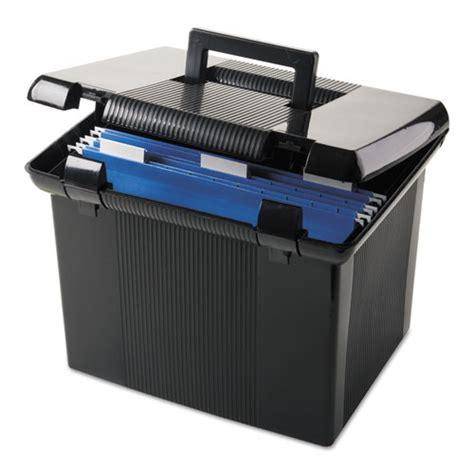 Box File Jumbo Yushinca 105cm portable file boxes letter plastic 11 x 14 x 11 1 8 black
