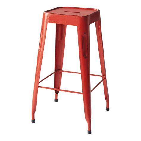 taburetes industriales taburete de bar de estilo industrial rojo taburetes