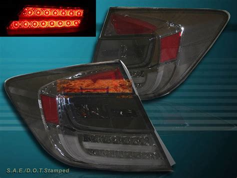 2012 honda civic tail lights 2012 honda civic 4 door sedan led smoke tail lights new ebay