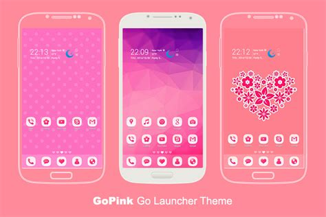 go launcher themes top 10 gopink android theme for go launcher ex dreamstale