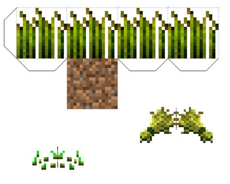 Minecraft Papercraft Items - papercraft wheat block improved comes with seeds and