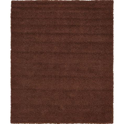 chocolate brown area rug unique loom solid shag chocolate brown 8 ft x 10 ft area rug 3136669 the home depot
