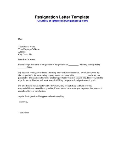 template of a resignation letter 25 unique resignation letter format ideas on