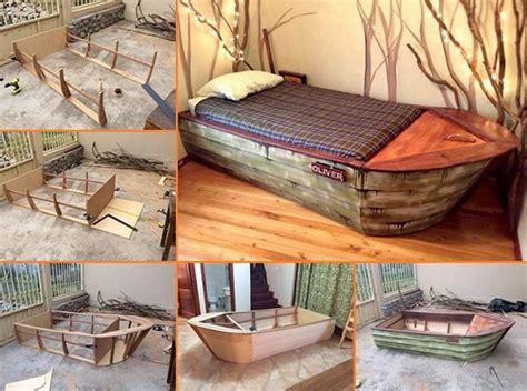 creative ideas diy cool boat bed