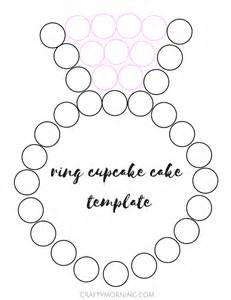 pull apart cake templates ring engagement cupcake cake crafty morning