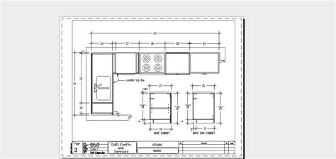 Kitchen Design Autocad Autocad Drafting And Design Kitchen Sle