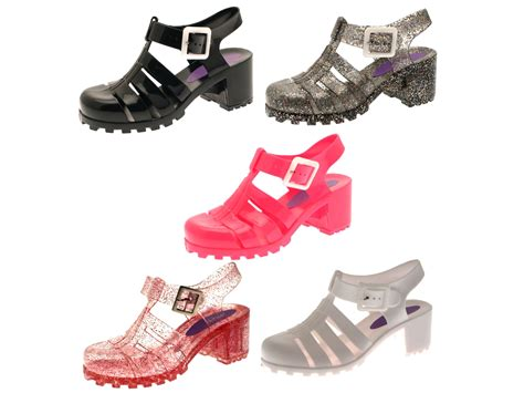 childrens jelly sandals jelly shoes summer cut out heel sandals jellies