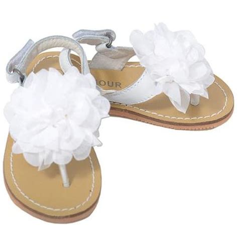 white baby sandals buy l amour toddler 5 white flower summer