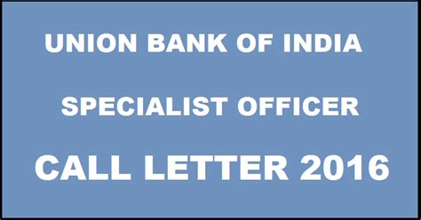 Complaint Letter Union Bank Of India union bank of india so call letter 2016 for specialist officer www unionbankofindia co in