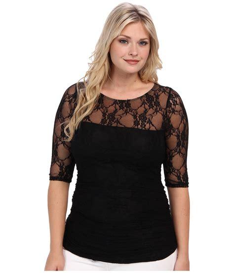Keira Top Lace Blouse Hijaber kiyonna smitten lace top black noir zappos free shipping both ways