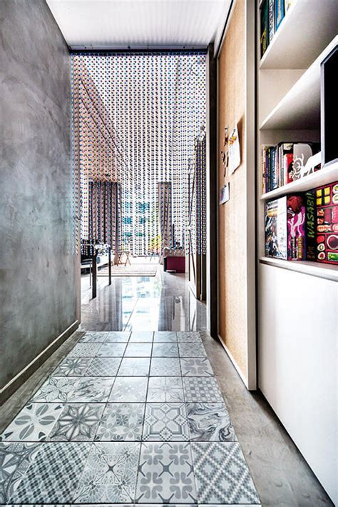 design ideas  mixing patterned tiles