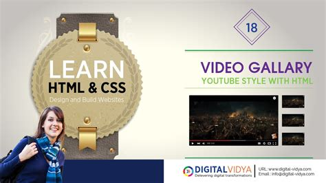 html tutorial youtube in telugu telugu tutorial how to create youtube video gallery with