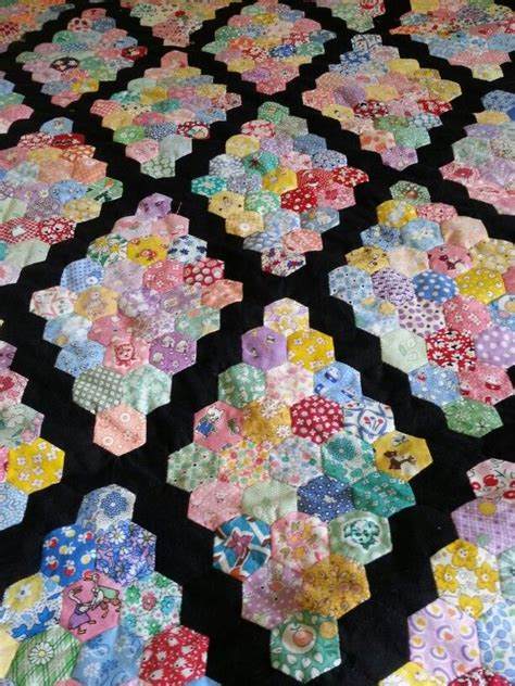 Hexagon Patchwork Quilt - 1972 best hexagon quilting images on hexagons