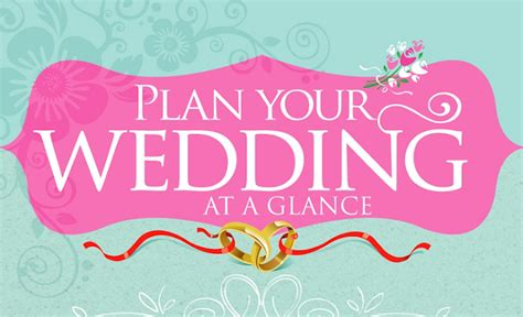 Plan Your Wedding by Plan Your Wedding At A Glance Infographic Visualistan