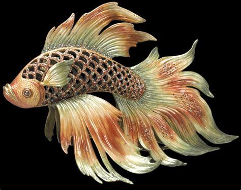 Franz Vase Jay Strongwater Namiko Japanese Fighting Fish Sdh1699480