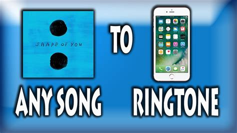 song ringtone how to set any song as ringtone in iphone ios easily no