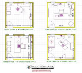 Home Design Room Layout by Office Layout Design 4 Room Home Office Design