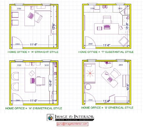 office layout design 4 room home office design