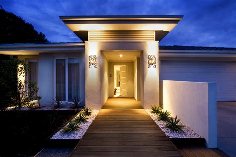 design house exterior lighting exterior lighting design custom decor sturdy brown slate