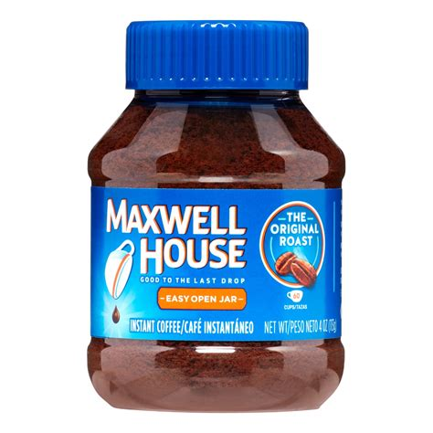 maxwell house coffee history maxwell house coffee instant coffee original 4 oz 1 ct jet com