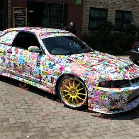 jdm cartoon graffiti car sticker bomb wrap sheet decal