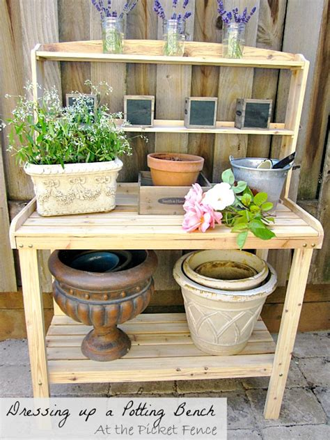 potting bench accessories a potting bench love story at the picket fence