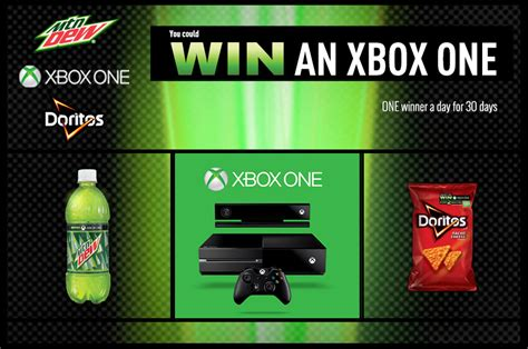 Free Xbox One Giveaway - kroger mountain dew one a day giveaway one free xbox one everyday