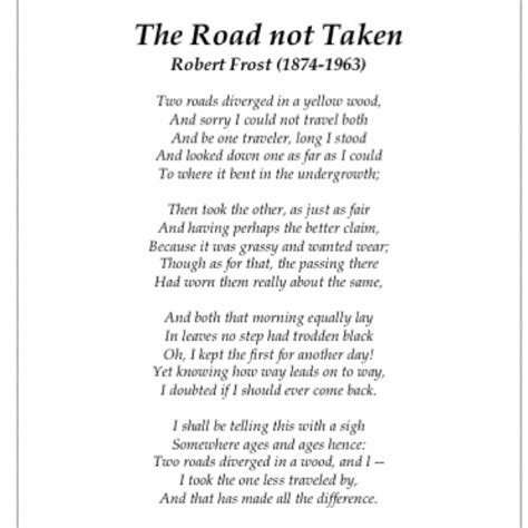 The Road Not Taken Analysis Essay by Quote The Road Less Traveled By Robert Lifehacked1st