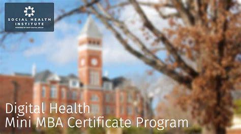 Clemson Mini Mba by Digitalhealth Mini Mba Certificate Program At Clemson