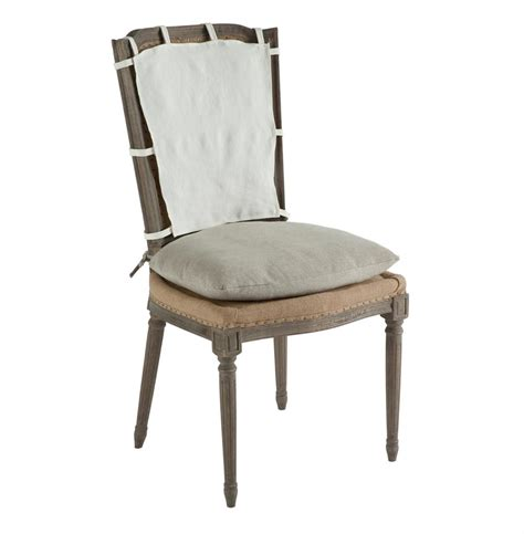 pair french country weathered gray dining chair  slip