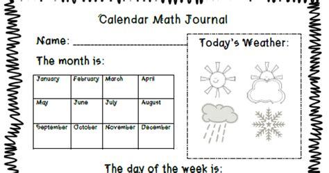 Calendar Math The 2 Teaching Divas Calendar Math Journal