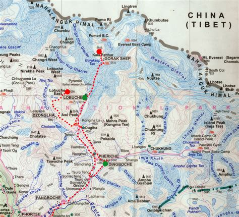 mount everest map nepal map mount everest