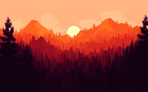 clean firewatch styled wallpaper wallpapers