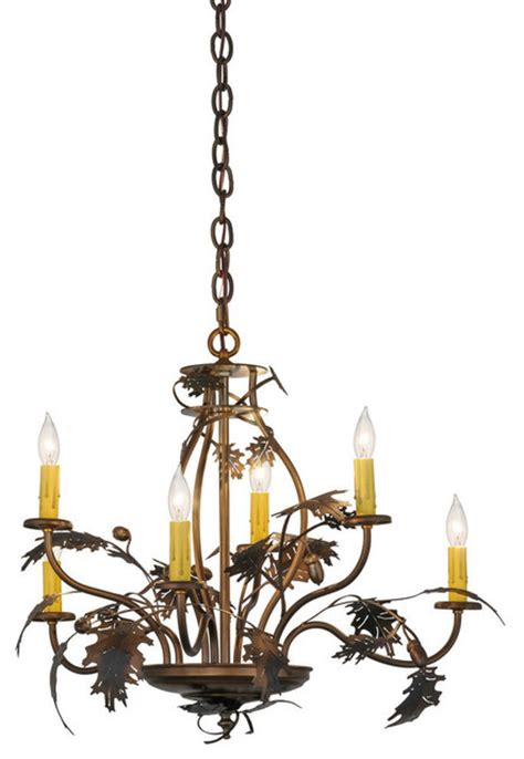 Acorn Chandelier Shop Houzz Meyda Lighting 28 Quot Oak Leaf And Acorn 6 Light Chandelier Chandeliers