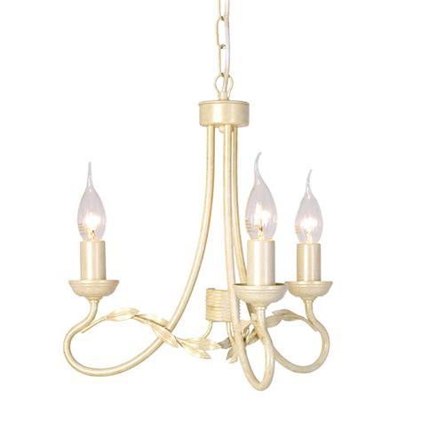 Olivia 3 Light Chandelier Ivory Gold Ivory Chandelier
