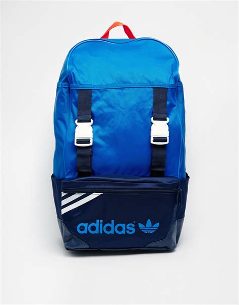 adidas backpack lyst adidas originals zx backpack in blue for men