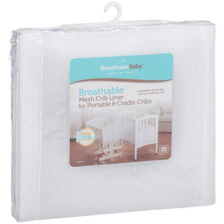 breathablebaby breathable crib liner for portable