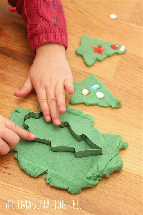 new year playdough activities invitation to decorate play dough trees the