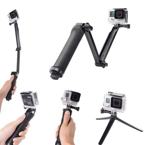 Monopod Gopro 4 gopro monopod accessories 3 way grip arm tripod for gopro 4 2 3 3 sj4000 sj5000