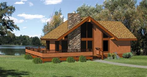 cabin style house plan    bed  bath