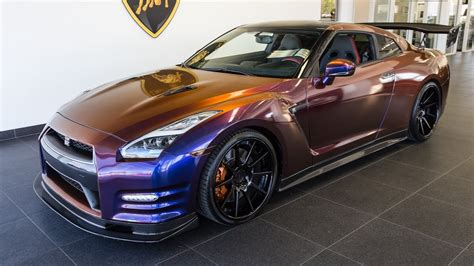 nissan purple 2015 chameleon purple nissan gtr black edition