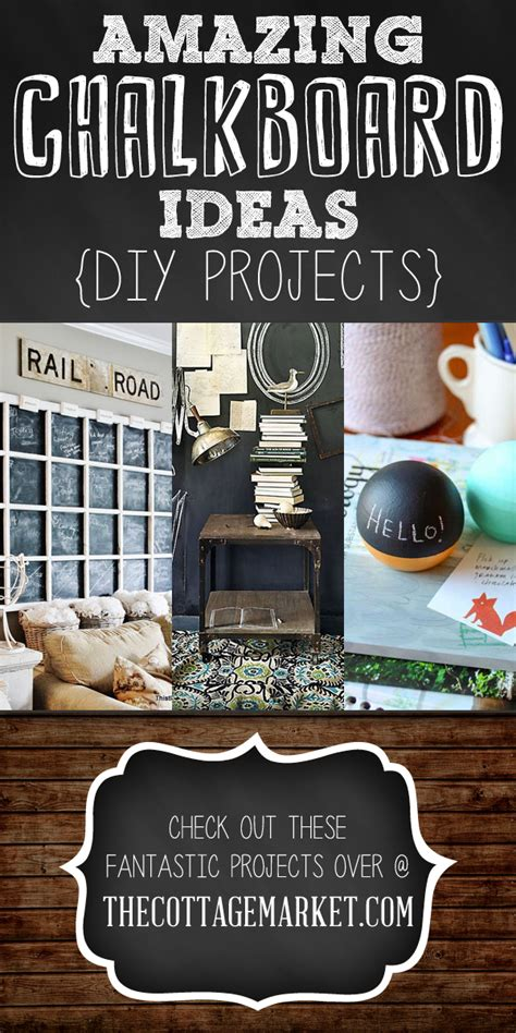 amazing chalkboard ideas diy projects the cottage market