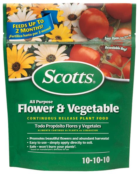 plant food that comes with flowers scotts all purpose flower and vegetable continuous release