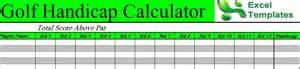 Golf Handicap Spreadsheet Download Free Excel Golf Handicap Template