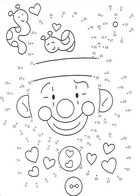 printable connect the dot games dot to dot games clown game