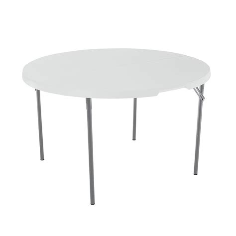 fold in half folding table white round light commercial fold in half table 48