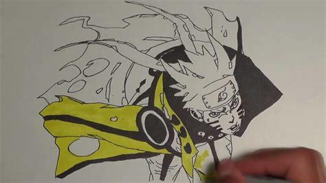 naruto bijuu mode drawing p youtube